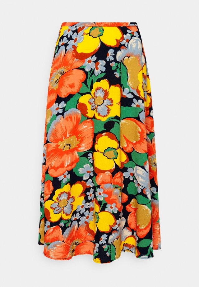 JUNO MIDI SKIRT SUNBEAM - A-line skirt - orange