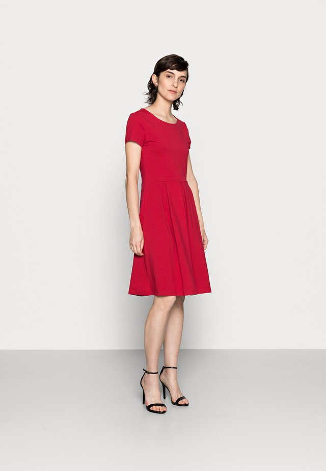 BASIC MINI DRESS - Jersey dress - red