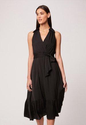 WITH RUFFLES - Robe d'été - black