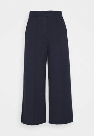 CULOTTE SHAPE CROPPE - Trousers - night sky