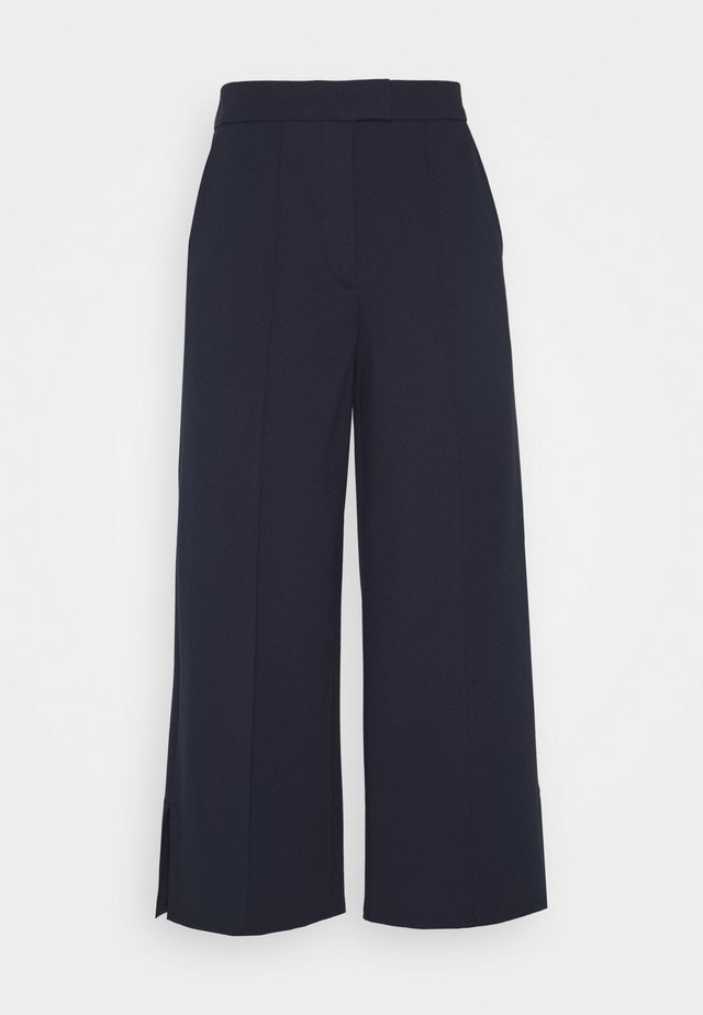CULOTTE SHAPE CROPPE - Pantaloni - night sky