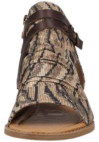 Blowfish Malibu - Ankle cuff sandals - tiger safari blanket/tobac dyecut - 4