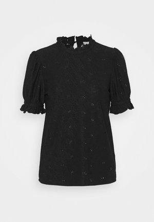 VIKIWI FLOUNCE DETAIL  - Blusa - black