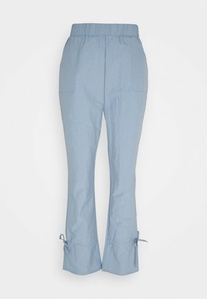 TIE CUFF TROUSER - Trousers - grey