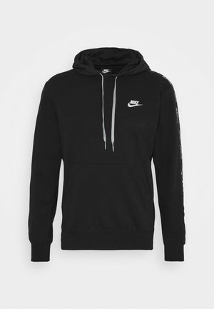 Hoodie - black/particle grey/white