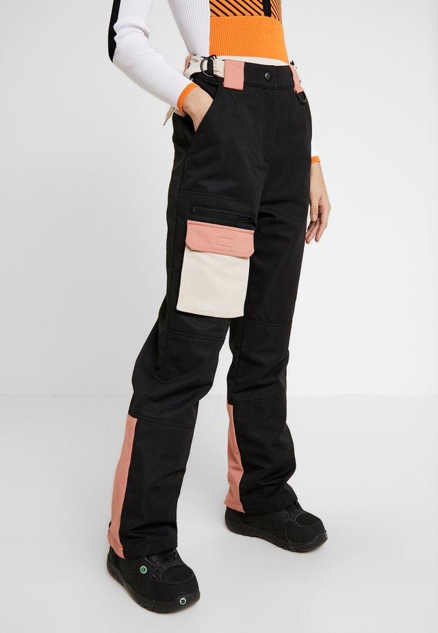 EXC SNO PLANET - Trousers - black/ apricot