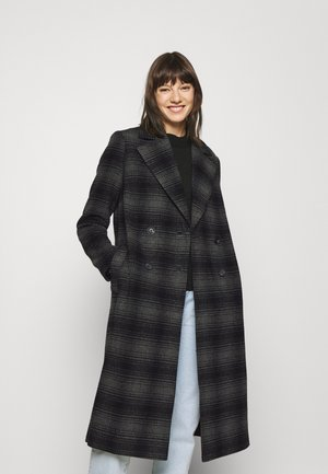LAVERNE DOUBLE BREASTED CHECK COAT - Classic coat - charcoal grey
