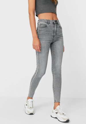 MIT SEITLICHEM STREIFEN - Jeans Skinny Fit - grey