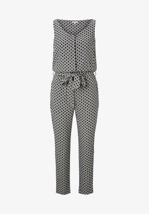 OVERALLS ÄRMELLOSER JUMPSUIT MIT ELASTISCHEM TAILLENB - Jumpsuit - black circle design