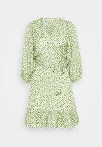 DELICATE WRAP DRESS - Day dress - green