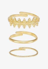 RING KIKU 3 PACK - Ring - gold-coloured