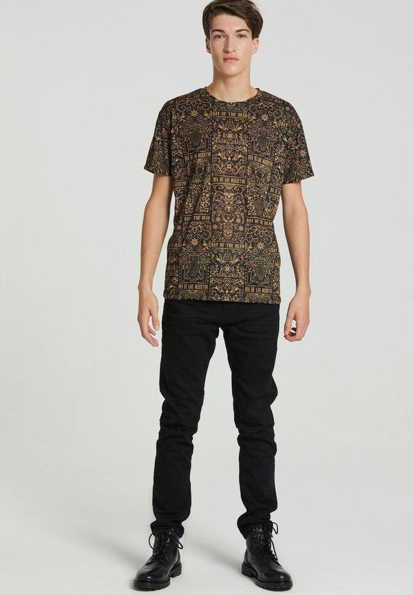 Mr. GUGU & Miss GO DAY OF DEAD - T-shirt z nadrukiem - black/czarny Odzież Męska FGYW