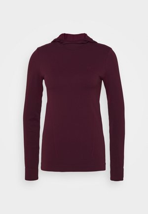 COMET SEAMLESS HOODIE - Long sleeved top - winetasting/mauve wine