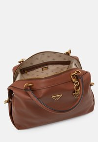 Guess - DESTINY SATCHEL - Handbag - cognac - 2