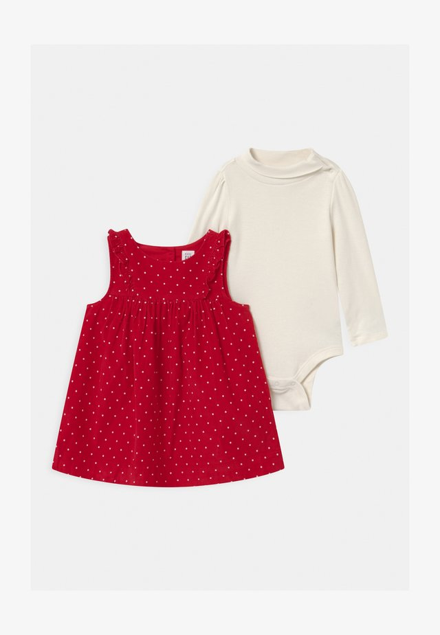 DOT SET - Long sleeved top - modern red