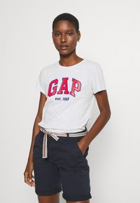 GAP - OUTLINE TEE - T-shirt z nadrukiem - grey - 0