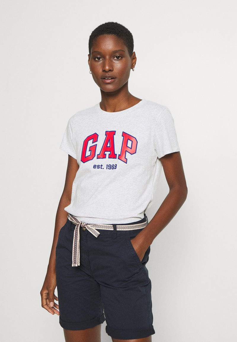 GAP - OUTLINE TEE - T-shirt z nadrukiem - grey