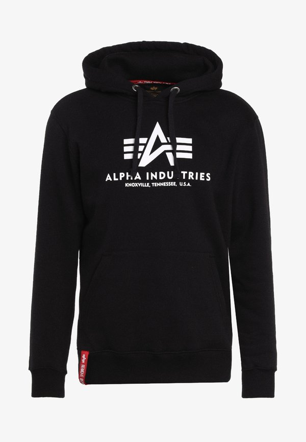 Alpha Industries Bluza z kapturem - black/czarny Odzież Męska SZTO