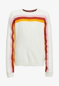 WE Fashion - MET REGENBOOGSTREPEN - Trui - off-white - 0