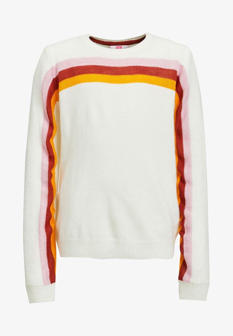 WE Fashion - MET REGENBOOGSTREPEN - Trui - off-white