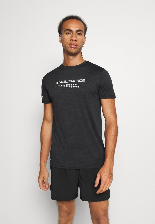 PERFORMANCE TEE - T-shirt imprimé - black