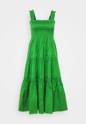 SMOCKED RUFFLE DRESS - Day dress - resort green