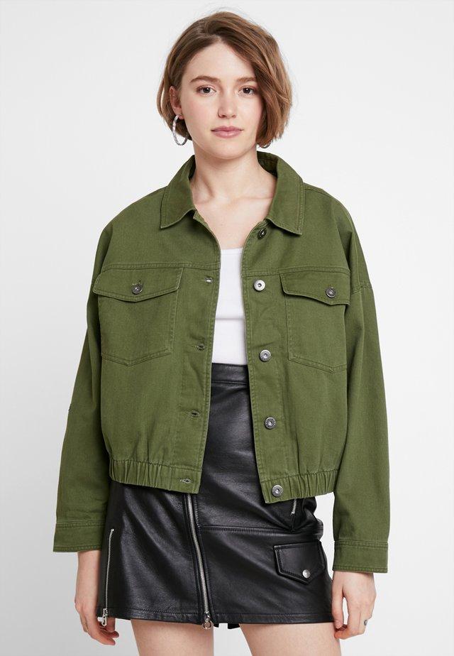 UTILITY - Denim jacket - khaki