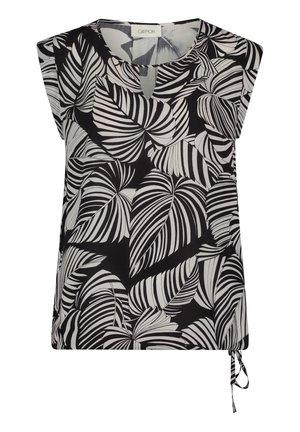 Button-down blouse - schwarz/grau