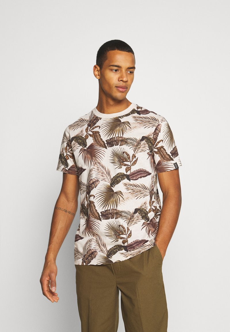 Scotch & Soda - CREW NECK TEE WITH SEASONAL ALL OVER PRINT - Print T-shirt - combo