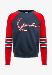 Karl Kani - SIGNATURE BLOCK CREW - Mikina - navy/red/white - 4