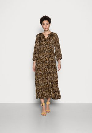 NILLE DRESS - Day dress - black/brown