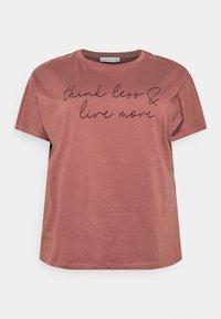 Anna Field Curvy - T-shirts med print - bordeaux - 3