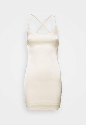 CROSS BACK STRAP BODYCON DRESS - Koktejlové šaty/ šaty na párty - cream