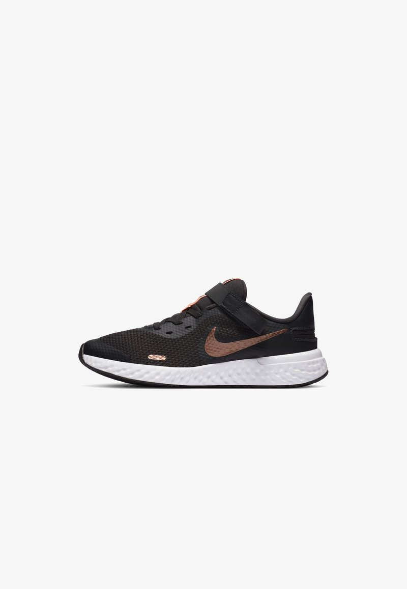 Nike Performance - REVOLUTION 5 FLYEASE - Neutral running shoes - dark smoke grey/atomic pink/metallic red bronze