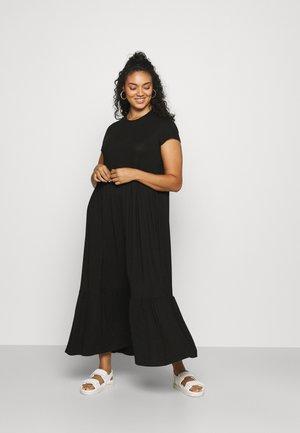 TIERED SMOCK MIDAXI DRESS - Robe longue - black