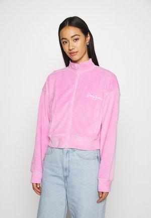 ZIP FRONT CROP JACKET - Zip-up hoodie - pink
