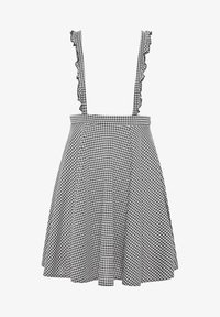 Yours Clothing - GINGHAM  - A-line skirt - black - 5