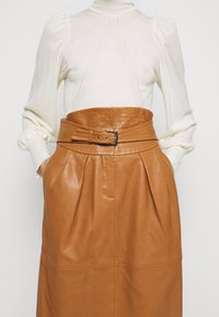 Alberta Ferretti - PIECES SKIRT - Pencil skirt - brown - 5