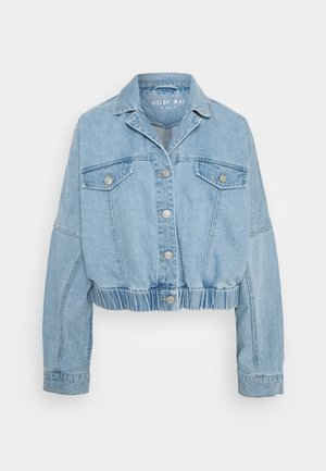 NMSILLA BOXY  - Džínová bunda - medium blue denim