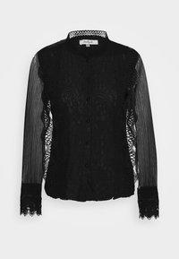 APPEL BLOUSE - Button-down blouse - black