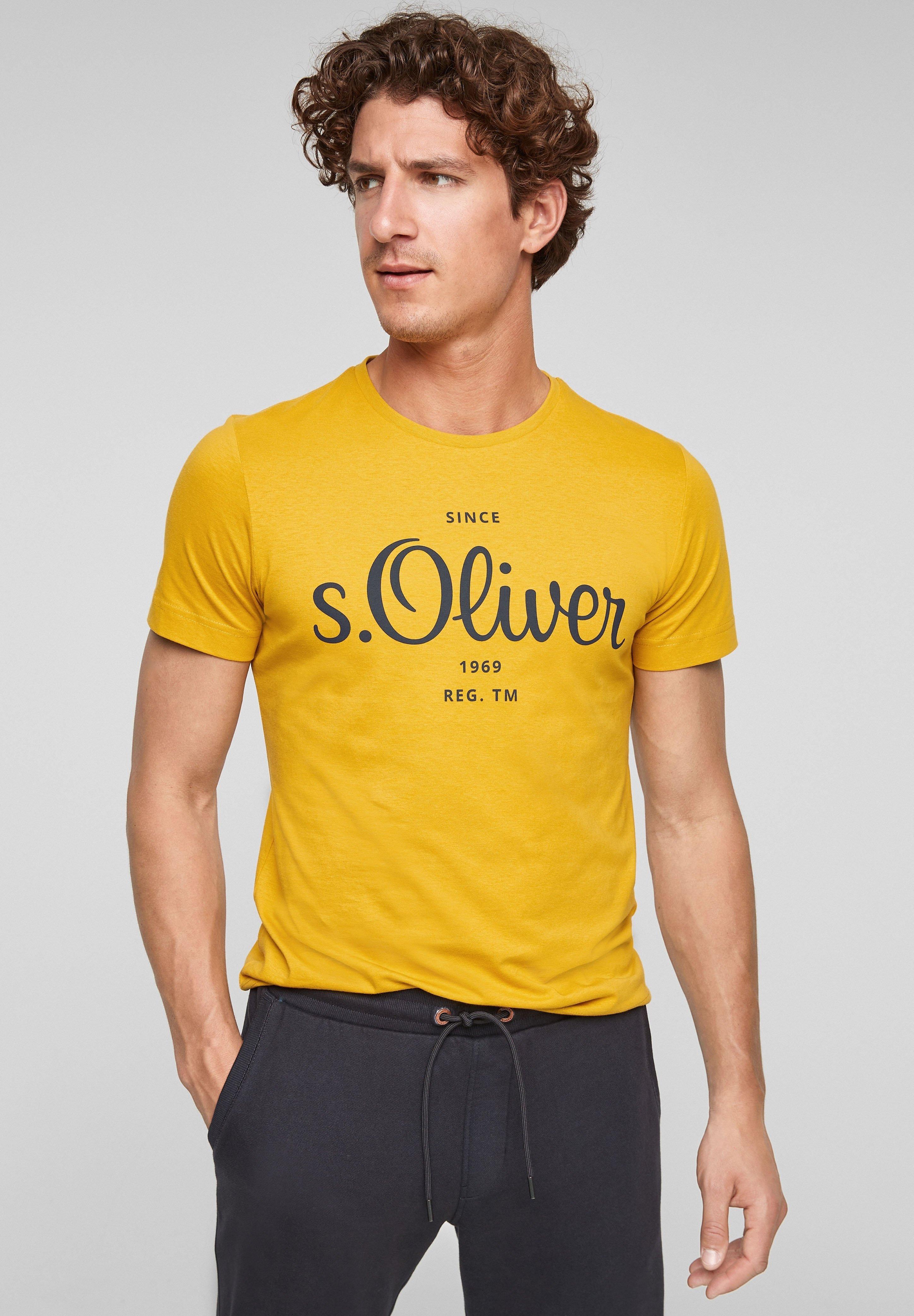 Herren MIT LABEL-PRINT - T-Shirt print