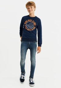 WE Fashion - MET NEONDETAILS - T-shirt print - dark blue - 0