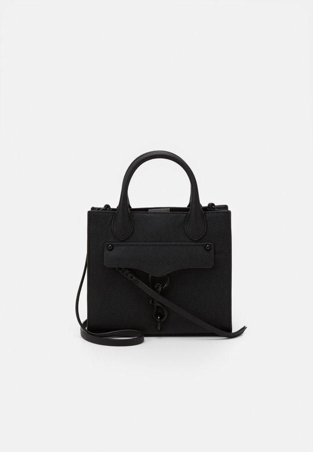MEGAN MINI TOTE CROSSBODY - Borsa a mano - black