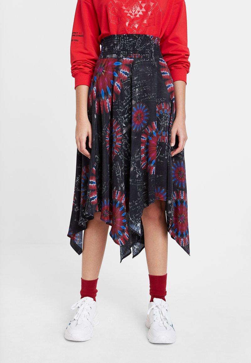 Desigual - FAL_BRINDISI - A-line skirt - blue
