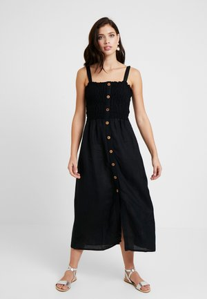 SHIRRED DRESSES - Maxi dress - black