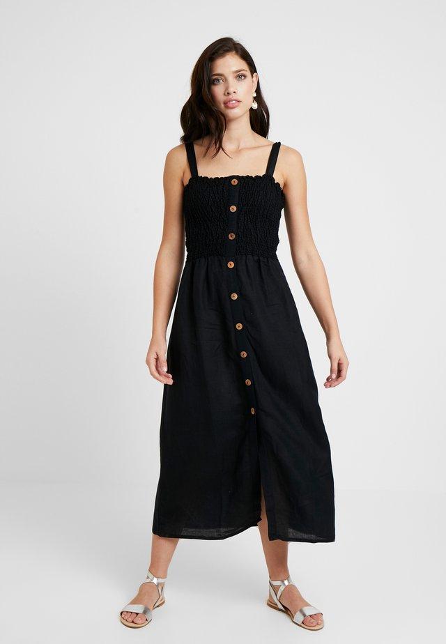 SHIRRED DRESSES - Maxi dress - black