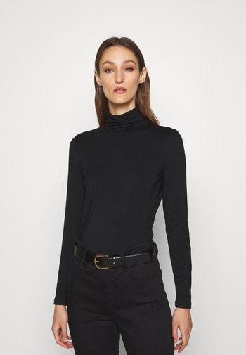 ALANA - Maglietta a manica lunga - polo black