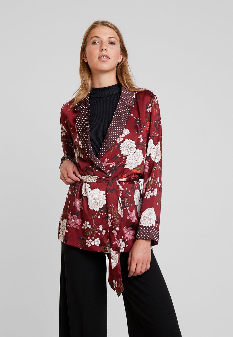 ONLY - ONLELAINE LOOSE - Short coat - merlot