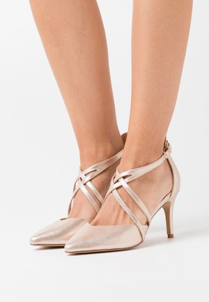 WIDE FIT WINTERBERRY - High heels - beige shimmer