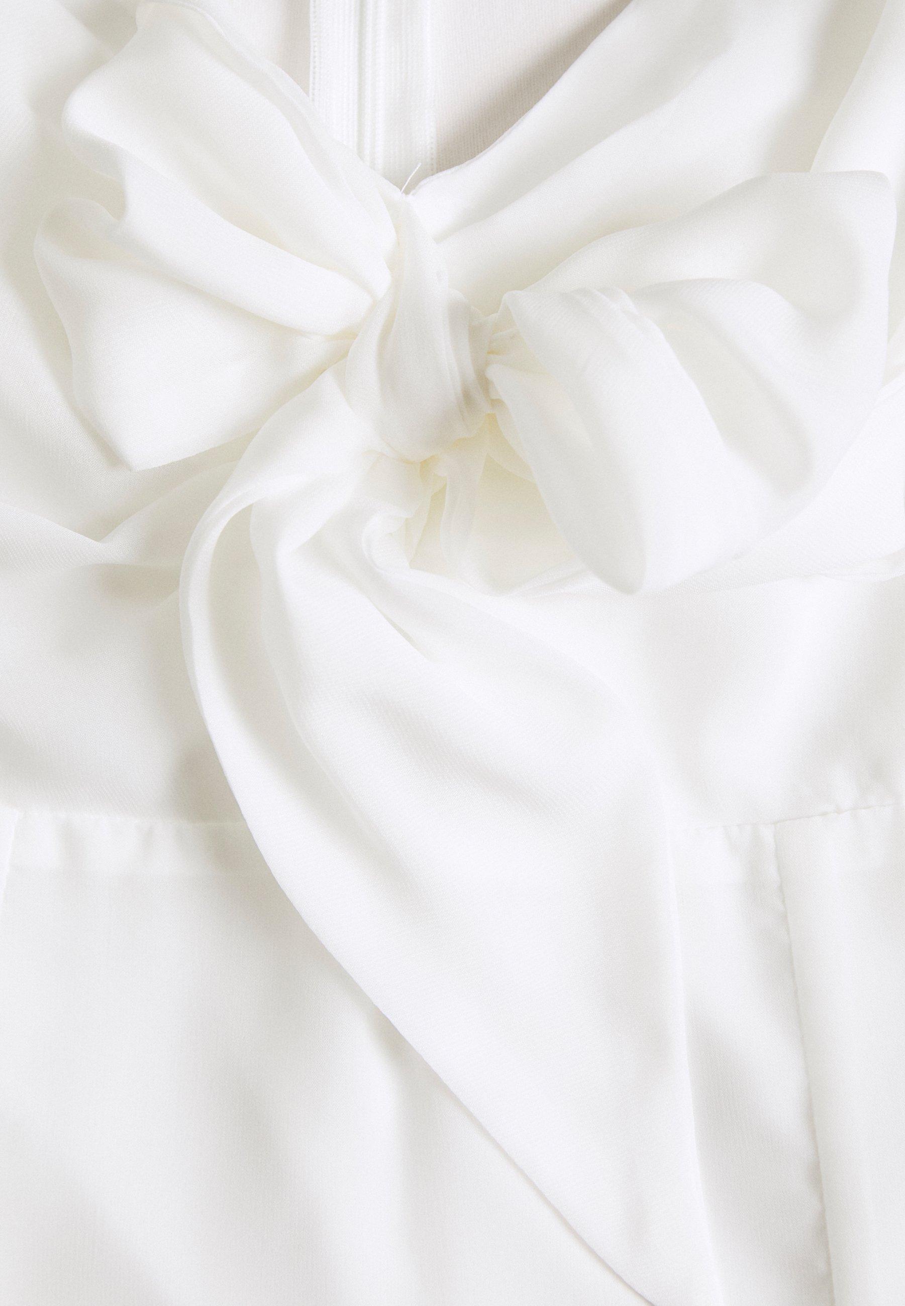NAKD TIE FORNT DETAIL DRESS Freizeitkleid white/weiß